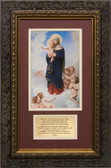 Our Lady of the Angels with Prayer Framed