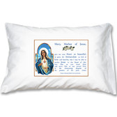Immaculate Heart of Mary: Mother Teresa's Prayer to Mary Prayer Pillowcase