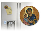 Our Lady of Good Health Round Magnet