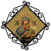 Our Lady of Perpetual Help (Gold) Votive Candle Holder