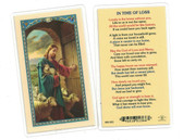 In Time Of Loss Laminated Prayer Card