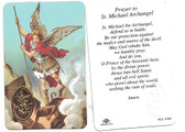 St. Michael Archangel With Medal Prayer Card