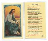 No Time Laminated Prayer Card