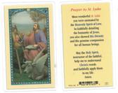 Prayer To St. Luke Laminated Prayer Card