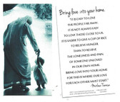 Bring Love Into Your Home Prayer Card