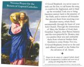 Novena Prayer for the Return of Lapsed Catholics