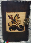 Saint George and the Dragon Hand crafted Leather Breviary Cover