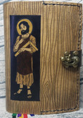 Saint Joseph Hand Crafted Leather Breviary Cover in Pine Look Finish