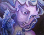 Vespers Signed Color Angel Print by Margaret Zylla