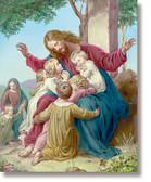 Jesus with Children 3D Art Print
