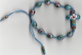 Handmade Cloisonne Rosary Bracelet - Sky Blue