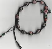 Handmade Cloisonne Rosary Bracelet - Black