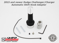 Barton 2015 and newer Dodge Challenger / Charger Automatic Shift Knob Adapter with Black Finish
