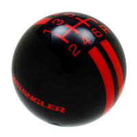 Black knob with Red graphics