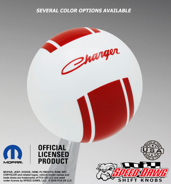 White knob with Red graphics