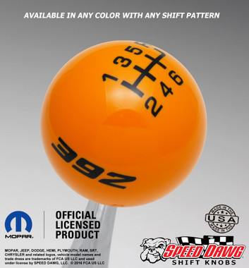 Grabber Orange knob with Black graphics