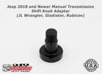 Jeep 2018 & Newer Manual Transmission Shift Knob Adapter JL Gladiator Rubicon