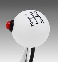 White knob with Black graphics
