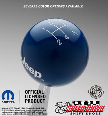 Dark Blue knob with White graphics