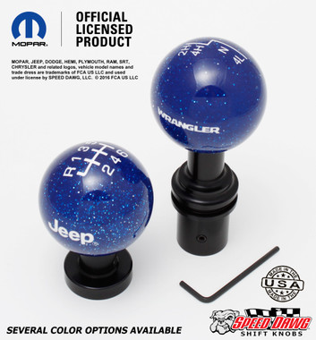 Dark Blue Metal Flake knobs with White graphics