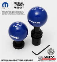 Dark Blue knobs with White graphics