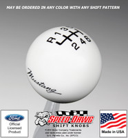 Mustang Script Shift Knob with Inlaid Shift Pattern for 2015 & Newer Mustang with Reverse Lockout