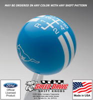 Mustang Running Pony Rally Stripe Shift Knob for 2015 & Newer Mustang with Reverse Lockout