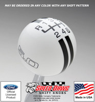 Mustang 5.0 Rally Stripe Shift Knob for 2015 & Newer Mustang with Reverse Lockout