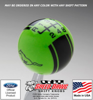 Mustang Running Pony Logo Racing Stripe Shift Knob for 2015 & Newer Mustang with Reverse Lockout
