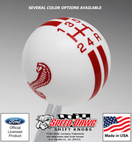 Mustang Cobra 5 Speed Rally Stripe Shift Knob