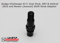 Dodge Challenger R/T, Scat Pack, SRT and Hellcat 2015 and Newer Manual Shift Knob Adapter - Black