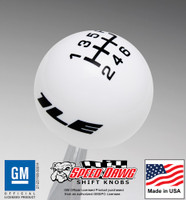 Camaro 1LE Logo Shift Knob with Inlaid 6 Speed Shift Pattern for 2013 & Newer Camaro