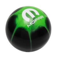 Mopar Logo Black Go Green Splash Shift Knob