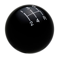 Black 5 Speed Reverse Lower Right Shift Knob