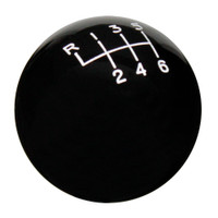 Black 6 Speed Reverse Upper Left Shift Knob