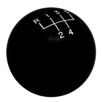 Black 5 Speed 5 Upper Right Reverse Upper Left Shift Knob with Engraved Shift Pattern