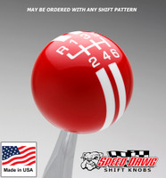 Red / White Rally Stripe Shift Knob