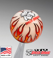 Ivory Flame Shift Knob w/ Speed Dawg Logo