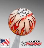 Ivory Flame Shift Knob w/ Speed Dawg Logo