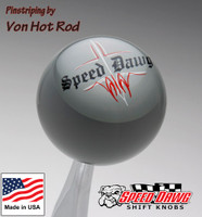 Gray Pinstripe Speed Dawg Shift Knob by Von Hot Rod