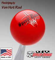 Red Pinstripe Speed Dawg Shift Knob by Von Hot Rod