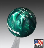Green Pearl Shift Knob with Engraved Shift Pattern & Logos