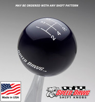 Midnight Blue Shift Knob with Engraved Shift Pattern & Logos