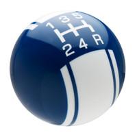 Dark Blue / White Racing Stripe Shift Knob