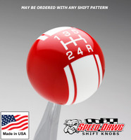 Red / White Racing Stripe Shift Knob