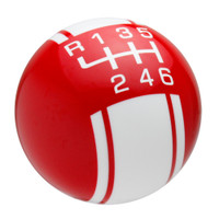Red / White Racing Stripe Shift Knob