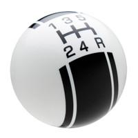 White / Black Racing Stripe Shift Knob