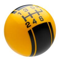 Yellow / Black Racing Stripe Shift Knob