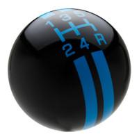 Black / Grabber Blue Rally Stripe Shift Knob