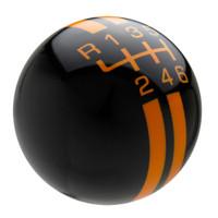 Black / Grabber Orange Rally Stripe Shift Knob